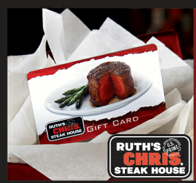 Check your Ruth's Chris Steak House Gift Card Balance. It's not just steak and potatos at Ruth's Chris Steak House. Find more of what you want with Ruth's Chris Steak House gift cards.